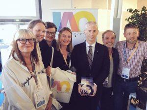 "IAO présente sa ""Featured Artist Declaration"" à Franck Riester, ministre de la culture"