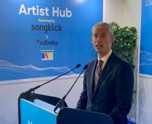 Discours officiel de franck Riester #ArtistHub